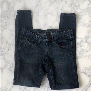 Mossimo dark rinse low rise skinny jeans